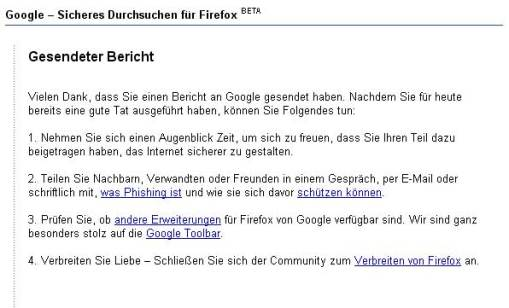 Google Sendebericht