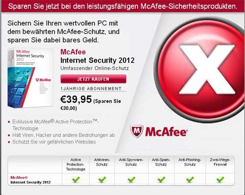 McAfee Antiviren Preise