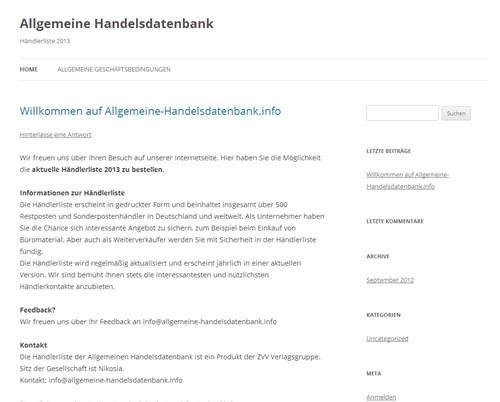 Handelsdatenbank-Abzocke